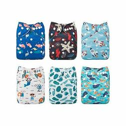 Babygoal Baby Cloth Diapers, Washable Reusable Pocket Nappy,