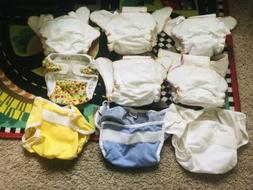Cloth Diapers..THX 5 Organic fitted hemp cloth diapers One s