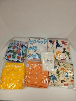 cloth diapers 6 diapers with inserts