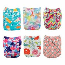 Babygoal Baby Cloth Diapers, Adjustable Reusable Pocket Napp