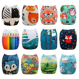 Babygoal Baby Cloth Diapers, One Size Adjustable Reusable Po