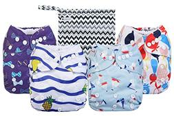 cloth diapers adjustable waterproof washable