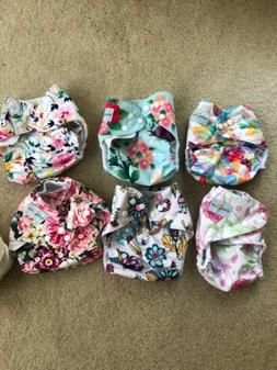 Babygoal Cloth Diapers for Girls, Adjustable Washable. 10 In