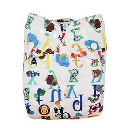 Cloth Diapers With Snaps, Gift Set Of 3, All In One Diapers,