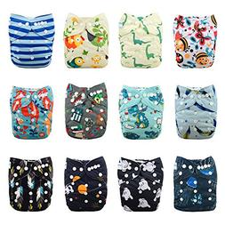 Babygoal Baby Cloth Diapers,One Size Adjustable Reusable Poc