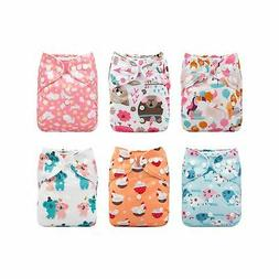 Babygoal Baby Cloth Diapers, Adjustable Reusable Pocket Diap