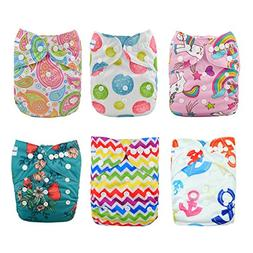Babygoal Baby Cloth Diapers, One Size Reusable Washable Pock