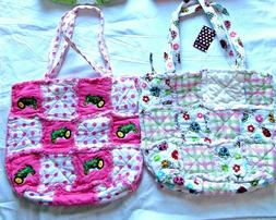 Cute Cloth Handbags Diaper Bags Lunch Tote Ladybugs & Tracto