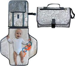 Diaper Changing Station - Portable Changing Pad Organizer fo
