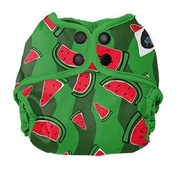 Imagine Baby Products Newborn Diaper Cover, Snap, Watermelon