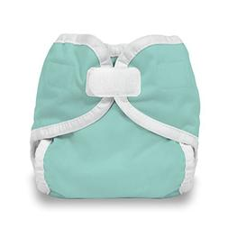 Thirsties Diaper Cover With Hook And Loop, Aqua, X-small