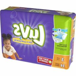 "Luvs - Diapers Size 3: 16 To 28 Lbs 34/Pack 4 Pack/Carton ""P"