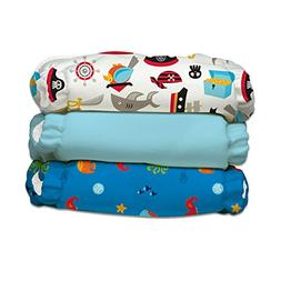 Charlie Banana 3 Piece Diapers with 6 Inserts Hybrid AIO, Oc