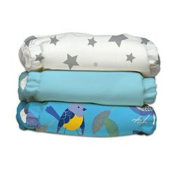 Charlie Banana 3 Piece Diapers with 6 Inserts Hybrid AIO, Li