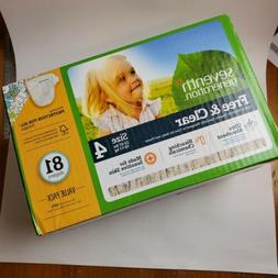 ❤SEVENTH GENERATION DIAPERS SIZE 4 CASE OF 81 BRAND NEW! B