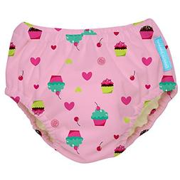 Charlie Banana Extraordinary Swim Diaper, Baby Pink, Large