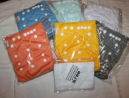 LBB Fitted Cloth Diapers 6 Pack + Liners