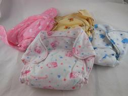 Flannel Washable DIAPER for newborn baby no hook and loop