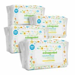 Babyganics Fragrance-Free Face, Hand and Baby Wipes, 300/400