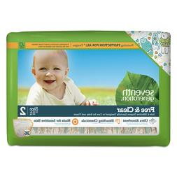 Seventh Generation Free and Clear Baby Diapers, Size 2, 12 l