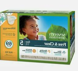 Seventh Generation Free & Clear Baby Diapers Size 5  69 Coun