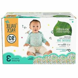 Seventh Generation Free & Clear Diapers, Size 3 44122