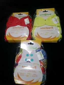 Bumgenius Freetime Lot Of 3 All in one snap closure One Size