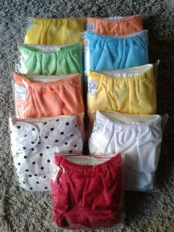 Gender neutral Lil bums cloth diapers 9 Pack with 18 inserts