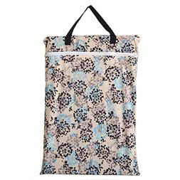 Large Hanging Wet/dry Cloth Diaper Pail Bag for Reusable Dia