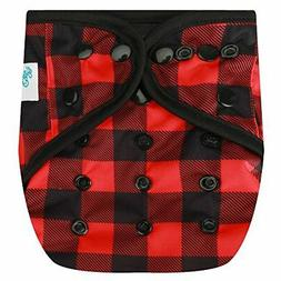 HappyEndingsTM One Size Cloth Diaper Cover AI2 System Buffal