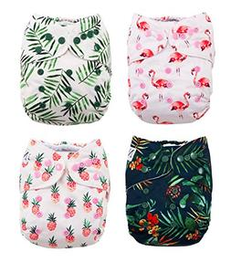 The Hollywood Hotel 4-Pack Cloth Pocket Diapers with 4 Bambo
