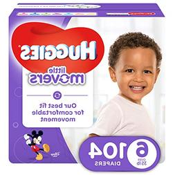 Huggies Little Movers Size 6 Baby Diaper Economy Plus Pack -