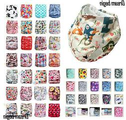 Lot Baby Infant One Size Reusable Cloth Diapers TPU Pocket N