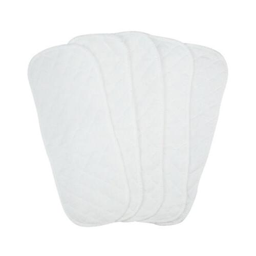 10PCS Cotton Cloth Baby Diapers Liners Layers Reusable Newborn Nappy