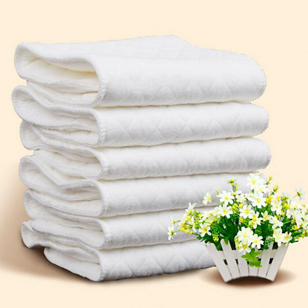 10pcs Reusable baby Cloth Diaper 100% Baby Washable