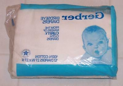 1988 gerber curity birdseye cloth diapers package