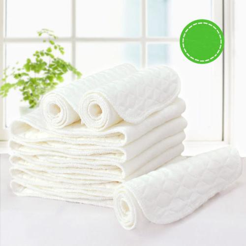 5 50pcs cotton reusable baby cloth diaper