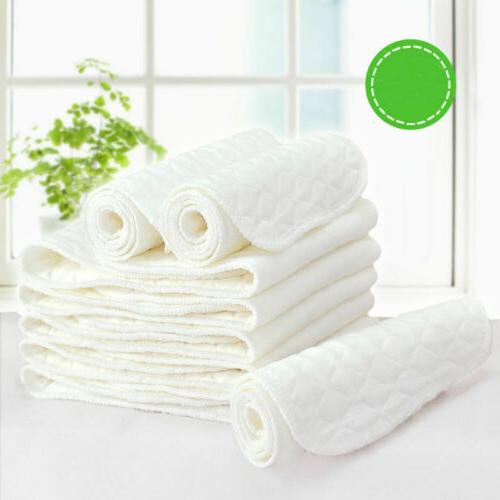 Lot Cotton Cloth Baby Diapers Inserts Liners 3 Layers Reusab