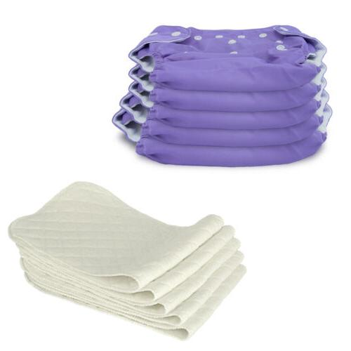 5 Reusable Washable Baby Diaper Nappies