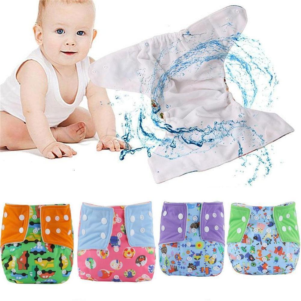 5 Pack Diapers Adjustable Reusable Baby Cloth Nappies