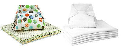 6 pack washable prefold cotton flannel cloth