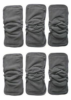 6 pc bamboo charcoal gussets inserts