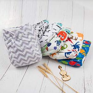 ALVABABY Diapers Washable with 12