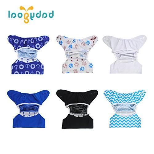 Babygoal Covers Reusable Washable 6pcs and Prefolds, Gift 6DCF02