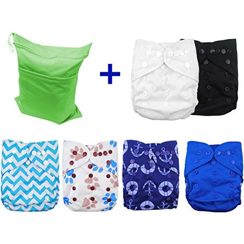 Covers Boys, Reusable Washable 6pcs Diaper Covers and Gift Sets 6DCF02