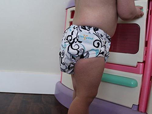 Babygoal Baby Diaper Covers for Adjustable Reusable Washable Covers for and Baby