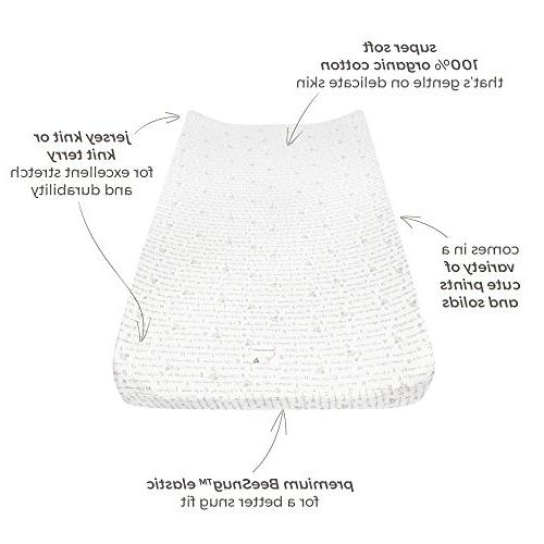 """Burt's Bees - Changing Pad Cover, Super Absorbent 100% Organic for Standard 16"""" 32"""" Changing Pads"""