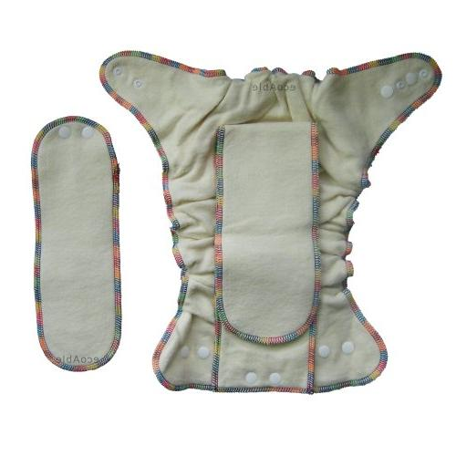 Fitted Cloth Diaper 2 Hemp Inserts, with
