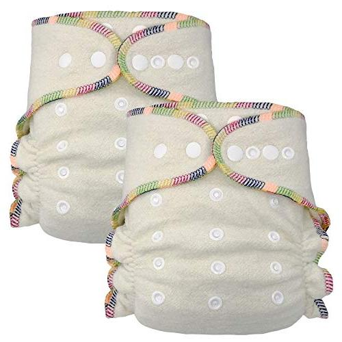 Fitted Cloth Diaper: Overnight Diaper with 2 Cotton Hemp Ins