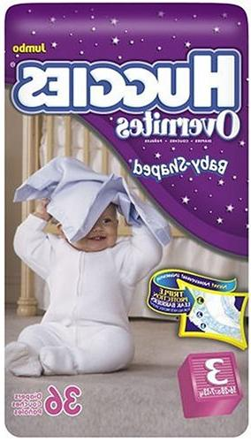 Huggies Overnites Diapers, Size 3, 36-Count